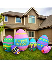 SEASONBLOW 8 Ft Easter Egg Inflatable Eggs Decoration for Indoor Outdoor Home Yard Lawn Decor