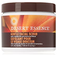 Pack of 3 x Desert Essence Facial Scrub Gentle Stimulating - 4 fl oz