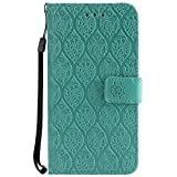 Xiaomi Redmi 4A Case, Lomogo Leather Wallet Case with Kickstand Card Holder Shockproof Flip Case Cover for Xiaomi Redmi 4A - LOYYO24368 Green