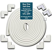 Roving Cove Edge Guards & Corner Guards set - Jumbo Oyster - Safe Edge & Corner Cushion - PRE-TAPED CORNERS; Childproofing; Baby Safety; Furniture Bumper; Baby Proofing; Table Protector