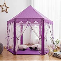 Pericross Snowflake Veil Hexagon Princess Play Tent with...
