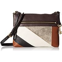 Fossil Fiona EW Small Crossbody Bag (Neutral Stripe)