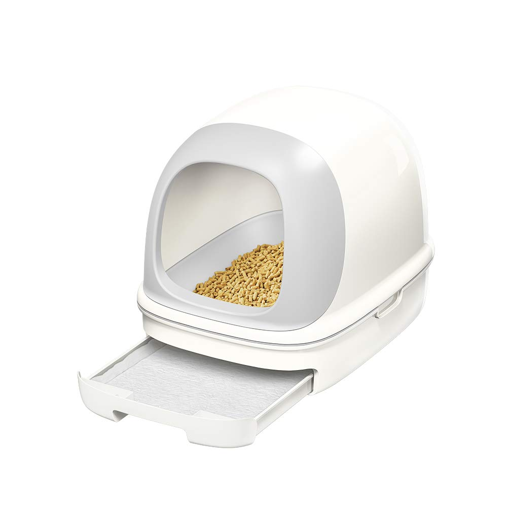【Amazon.co.jp限定】 ニャンとも清潔トイレ 猫用トイレ本体 ドームタイプセット クールホワイト