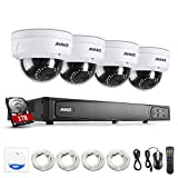 Annke 8CH POE Security Camera System with 4x 2.0 Mega-Pixels Day/Night Vision CCTV Cameras and 6.0MP High Definition Real-time Live Viewing NVR (1TB HDD)