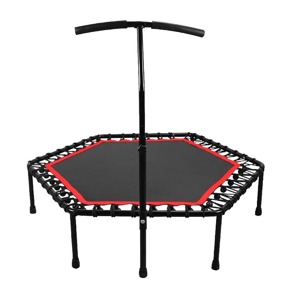 Gartentrampoline Trampolin mit verstellbarem Handlauf-Lenker, Silent Fitness-Indoor-Fitness-Fitnessgeräte Kinder Erwachsene Last 551lbs