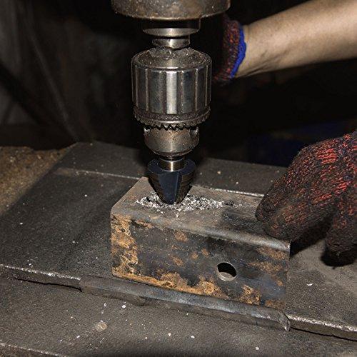 CO-Z 5pcs Hss Cobalt Multiple Hole 50 Sizes Step Drill Bit Set with Aluminum Case