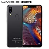 "Cell Phones Unlocked Canada, UMIDIGI A3 PRO 5.7"" 5.7"" 19:9 FullScreen Unlocked Smartphone Dual Sim 3GB+32GB Android 8.1 12MP+5MP Face Unlock Dual 4G Global Band (Gray)"