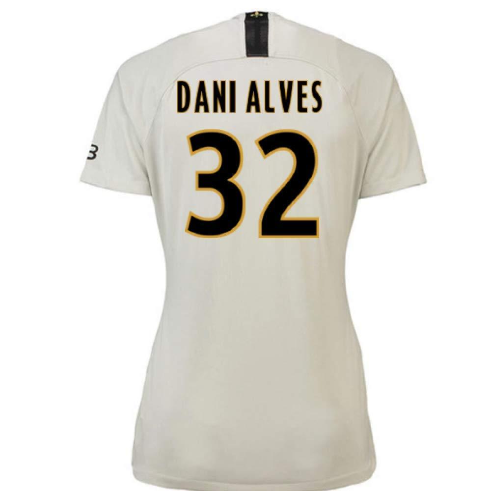 2018-19 PSG Away Damenschuhe Football Soccer T-Shirt Trikot (Dani Alves 32)