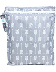 Bumkins Waterproof Wet Bag, Washable, Reusable for Travel, Beach, Pool, Stroller, Diapers, Dirty Gym Clothes, Wet Swimsuits, Toiletries, Electronics, Toys, 12x14 – Arrows