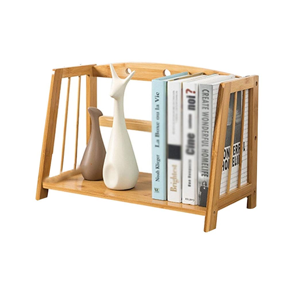 28x22x43 Office Desk Organiser,Book Shelf Table 2 Tier Desktop Plant Display Shelf Holder Office for Home Supplies Storage Magazine and Cd Rack Household Products (Size   28x22x43)