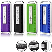 JUANWE 4pcs 16GB USB 2.0 Glide Flash drive Retractable Memory Stick with 4 Mixed Colors (Black Blue Green Purple)