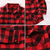 Toddler Long Sleeve Shirt Baby Boy Girl Plaid Top