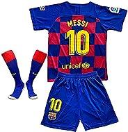 MGGALY Messi #10 Barcelona Home 2019/2020 Season Kids Youth Sport T-Shirts & Shorts &am