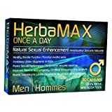 HerbaMAX for Men - Once a Day - 30 capsules - The Newest and Most Powerful 100% Natural Male Enhancement Pill on the Market! Contains High Quality Ingredients, Chosen Carefully to Provide Superior Performance - Licensed by Health Canada