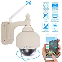 Szsinocam 3.5 HD 1080P Wireless WiFi PTZ IP Camera 2.8~12mm Auto-focus 1/3'' for Sony CMOS 18pcs IR lamps IR-CUT Waterproof Night Vision Motion Detection CCTV Camera for Home Security
