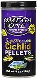 OmegaSea Food 53432 83431 Super Color Cichlid Pellets-Sinking, 8 oz, 1 Can