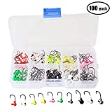 100pcs/box Fishing Jig Heads Hooks Kit Fishing Lead Lures Bait
