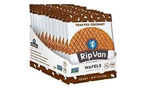 Rip Van Wafels Snack Wafels, Toasted Coconut, 12 Count, 13.92 OZ