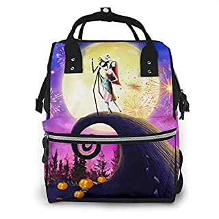 Diaper Bag The Nightmare Before Christmas Jack and Sally Poster Multifunction Waterproof Travel Backpack Maternity for Baby Boy Nappy Changing Bags