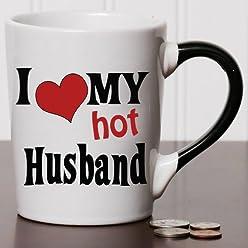 I Love My Hot Husband Coffee Mug, Ceramic Coffee Cup, Husband Gifts By Tumbleweed