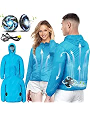 Air Conditioned Clothes Fan Jacket 3-Speed Adjustable AC Jacket Cooling Sun Protection Cooling Vest for Summer