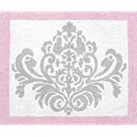 Sweet Jojo Designs Pink, Gray and White Elizabeth Accent Floor Rug