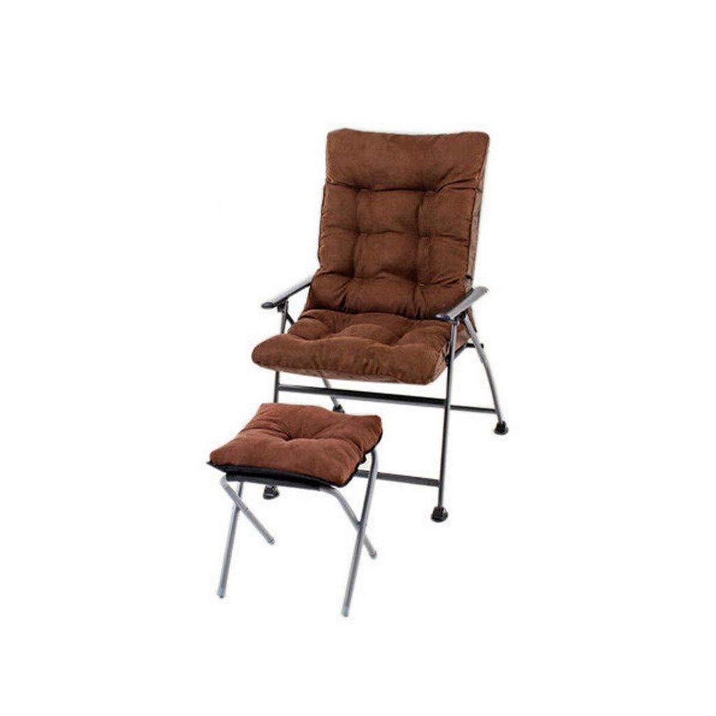 QZ HOME Stühle, Klappstuhl Sonnenliege Mittagspause Stuhl Tragbar Einfach Haushalt Schlafsaal Mit Füßen (Farbe : Braun)