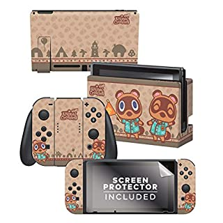 "Controller Gear Aunthentic & Officially Licensed Animal Crossing: New Horizon - ""Timmy & Tommy"" Nintendo Switch Skin Bundle"