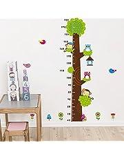 ملصقات لقياس الارتفاع للاطفال مرسوم عليها بومة كرتونية على الشجرة، ملصق حائط لغرفة الاطفال، ديكور منزلي