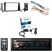 Pioneer CD Bluetooth Receiver W/Enhanced Audio Functions with SiriusXM Satellite Radio Vehicle Tuner Kit, Metra Radio Wiring Harness For Toyota 87-Up Power 4Speaker & Metra Double DIN Installation Kit