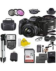 $724 » Canon EOS M50 Mark II Mirrorless Digital Camera 24.1MP Sensor with EF-M 15-45mm is STM Lens + 128GB Memory Card + Camera Case+ TopKnotch Accessories Kit (International Model)