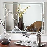 Decor Wonderland Frameless Etch Wall Mirror - 23.5W x 31.5H in.
