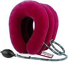 HailiCare Dispositivo di Trazione Collo Cervicale Cuscino per Trazione Cervicale Gonfiabile con 3 Strati di Aria per Alleviare il Dolore al Collo e alle Spalle