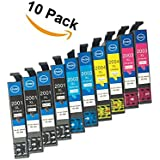 10 pack Remanufactured Ink Cartridges Compatible Use for XP-100 T200 / 200XL / T200 XP-410 XP-400 XP-300 XP-310 XP-200 WF-2540 WF-2530 WF-2520 Printer High Yield (4 Black, 2 Cyan, 2 Magenta, 2 Yellow)