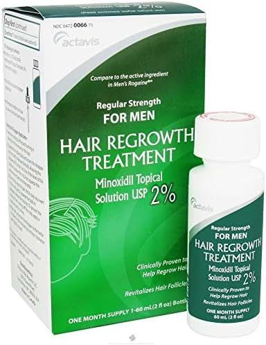 Mens Minoxidil 2% Regular Strength Hair Regrowth Treatment Sloution - 2 Oz