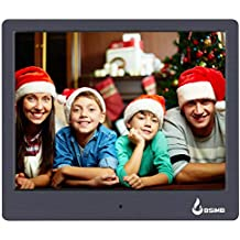 """BSIMB M12 Digital Picture Frame Digital Photo Frame 8"""" LED Display Hi-Res Digital Photo & HD Video Frame and USB/SD Card Playback Infrared Remote Control"""