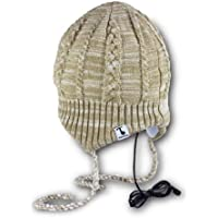 Tooks FLAPJAC Headphone Hat With Built-in Removable Headphones - COLOR: CAMEL/WHITE
