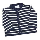 BabyPrem Baby Cardigan Jacket Boy Girl Navy Stripes Soft Knitted 0 - 12 Months