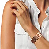 """Copper Bracelet for Men and Women 99.9% Pure Copper Bangle 6.5"""" Adjustable for Arthritis with 8 Magnets for Effective Joint Pain Relief, Arthritis, RSI, Carpal Tunnel"""