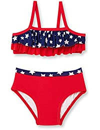 4be98ae190d5 Baby Girls OP Tiered Ruffle Patriotic Stars Bikini Swimsuit Swimwear