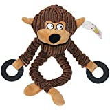 KAYI Dog Toys Animal Shape Novelty Ugly Stuffing-free Corduroy Long Hands Legs Interactive Toy