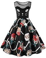 Lookatool Womens Cat Printing Sleeveless Party...