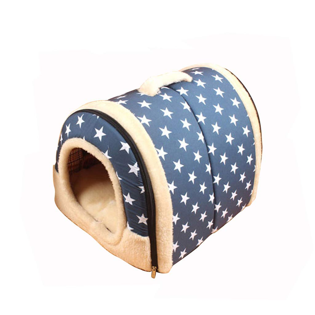M WANGXIAOLIN Dog bed, detachable, kennel, small and medium kennel, portable, nest, can be lifted, pet bed, cat nest, cat house, washable, all seasons (3 sizes) (PATTERN   Pattern3, Size   M)