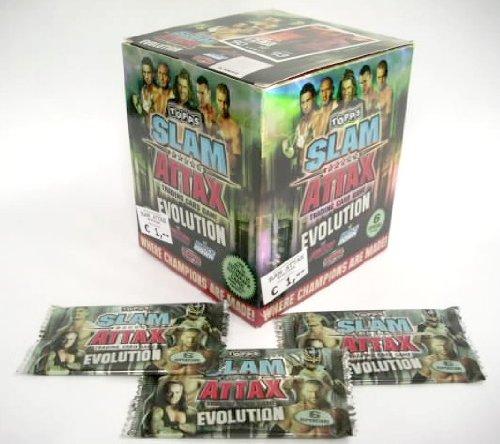 WWE Slam Attax Evolution / Display mit 100 Tüten je 6 Karten