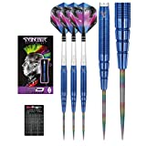 Red Dragon Peter Wright Snakebite Blue PL15 Tungsten Steel Darts with Flights, Shafts & Red Dragon Checkout Card