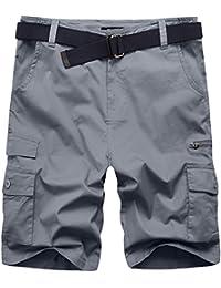 Men's Lightweight Belted Cargo Shorts