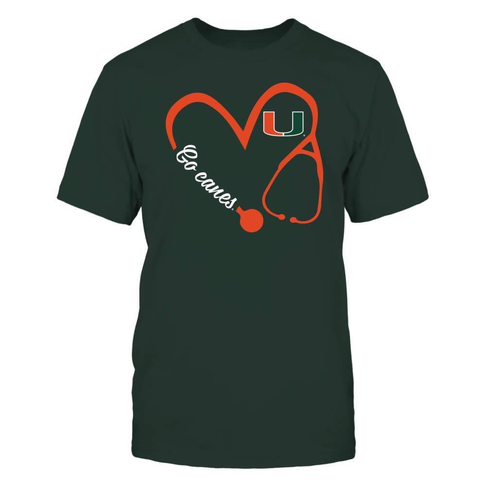 Miami Hurricanes Tshirt Heart 34 Nurse New Slogan