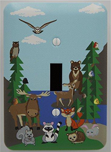 Single Toggle Woodland Forest Animal Light Switch