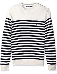 Men's Long Sleeve Bretton Stripe Crew Neck Sweater