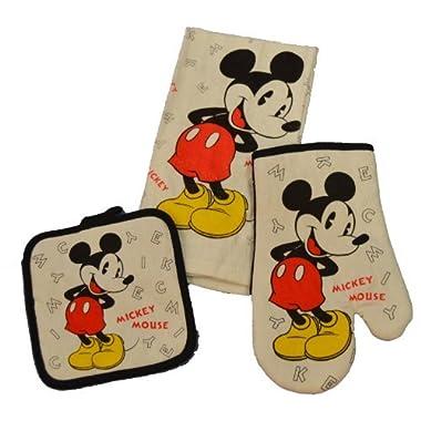 Disney 3 Piece Kitchen Set Mickey Mouse Letters